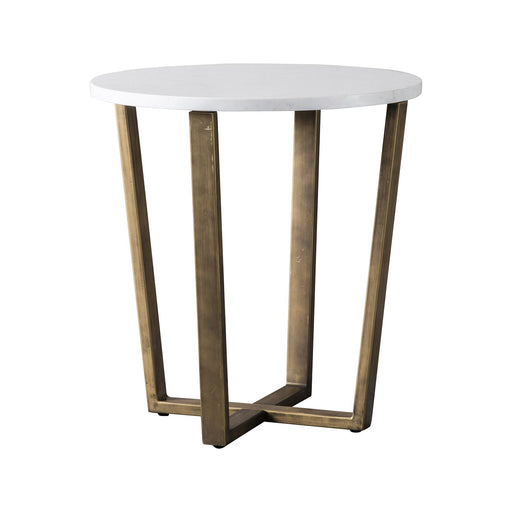 Cleo Round Side Table Marble - The Furniture Mega Store