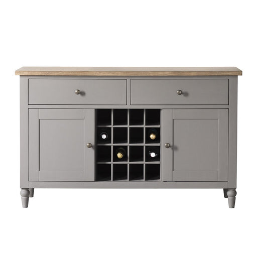Cookham Large Sideboard With Wine Storage Grey - The Furniture Mega Store