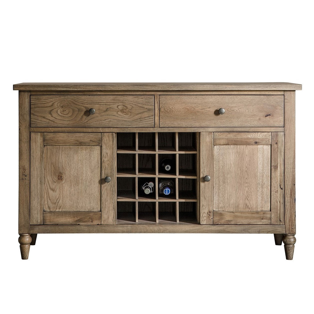 Cookham Large Sideboard With Wine Storage Oak - The Furniture Mega Store