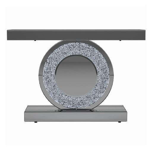 Large Crushed Diamond Mirrored LED Sparkle Console Table
