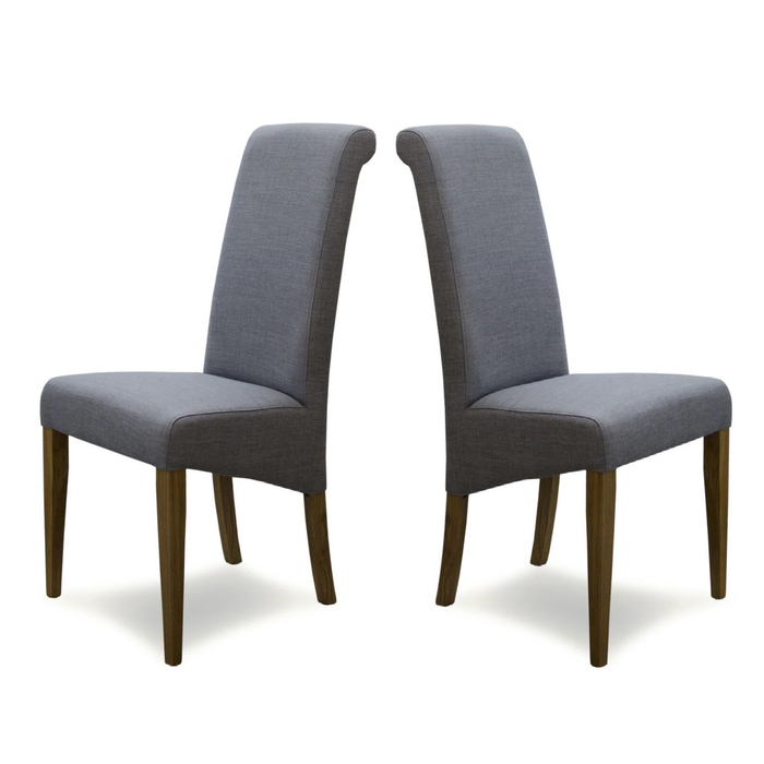 Florence Dining Chairs { Pair } - Grey