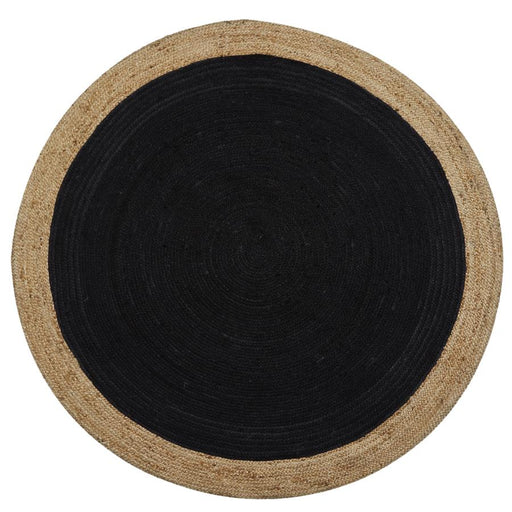 Milano Soft Jute Rug with Charcoal Centre - Choice Of Sizes