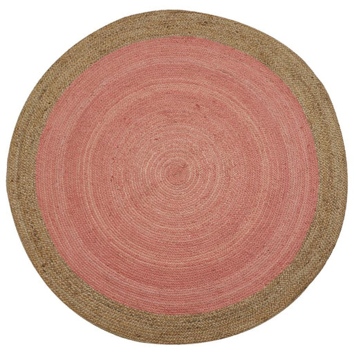 Milano Soft Jute Rug with Pale Pink Centre - Choice Of Sizes