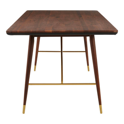 Kenso Walnut Wood - Brass Finish Dining Table