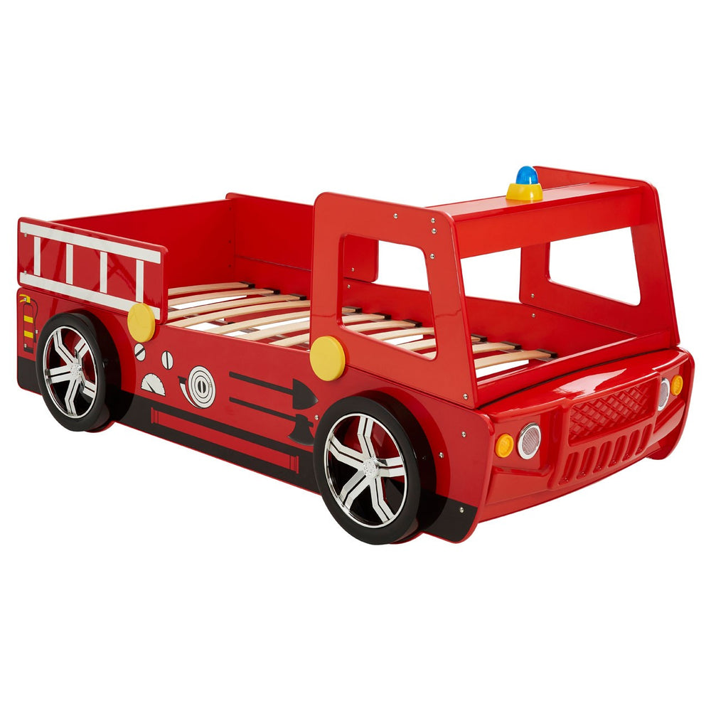 Kids Red Fire Engine Bed