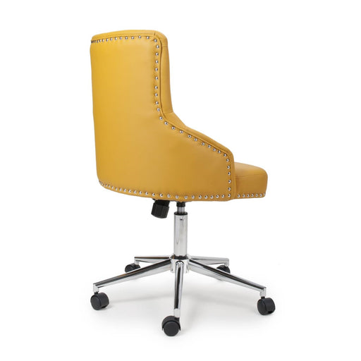 Henley Yellow Faux Leather Office Chair