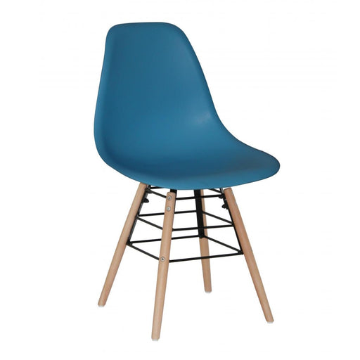 Milly Dining Chairs with Solid Beech Legs - Blue {Set Of 4}