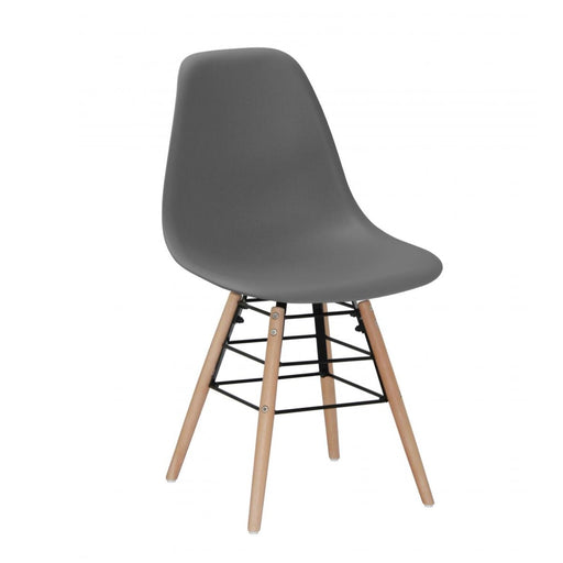 Milly Dining Chairs with Solid Beech Legs - Dark Grey {Set Of 4}