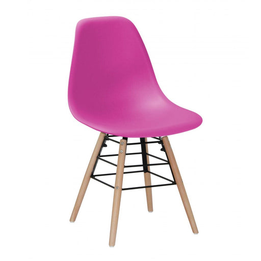 Milly Dining Chairs with Solid Beech Legs - Pink {Set Of 4}