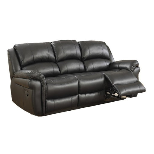 Lucas Black Leather Air Recliner 3 & 2 Seater Sofa Set