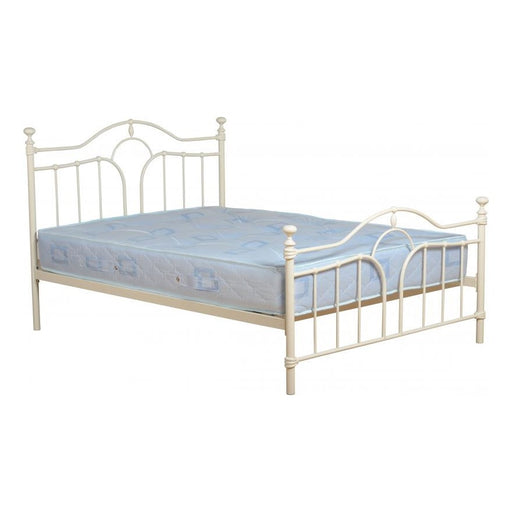 "Kerri 4'6"" Double Bed in Cream"