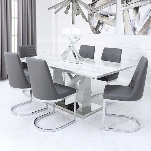 MARBLE DINING TABLE - THE FURNITURE MEGASTORE