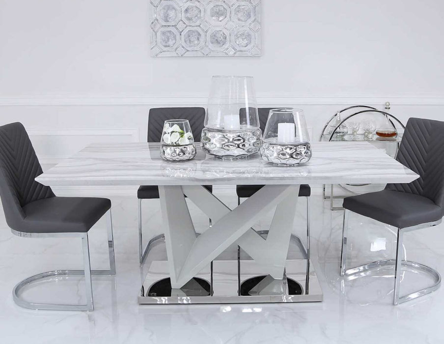 Esther Marble Effect Dining Table The Furniture Mega Store