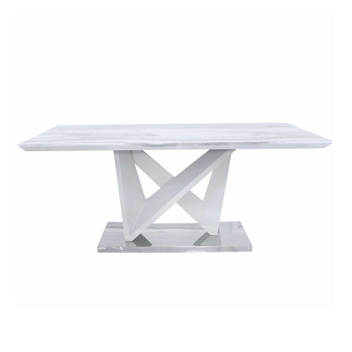 Esther Marble Effect Dining Table - The Furniture Mega Store