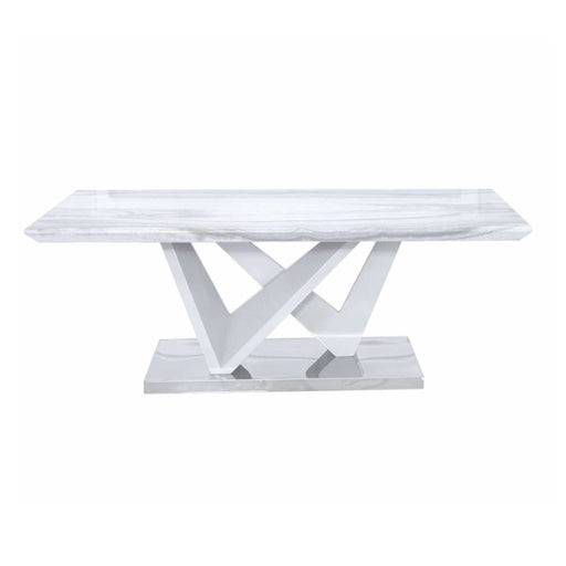 Esther Marble Effect Coffee Table - The Furniture Mega Store