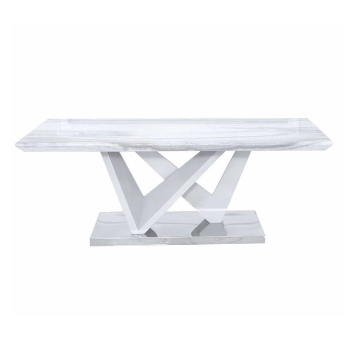 MARBLE COFFEE TABLE - THE FURNITURE MEGASTORE