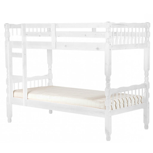 Milano Pine Bunk Bed White Wash - The Furniture Mega Store