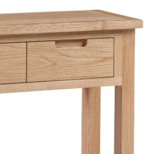 Romsey Solid Oak 2 Drawer Console Table - The Furniture Mega Store