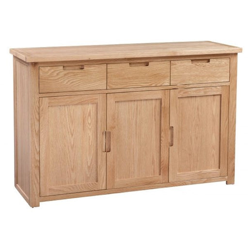Romsey Solid Oak 3 Drawer 3 Door Large Sideboard