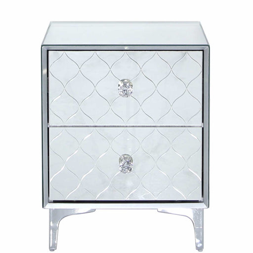 Laila Mirrored 2 Drawer Bedside Cabinet