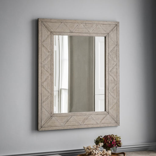 Mustique Parquet Inlaid Wall Mirror - The Furniture Mega Store