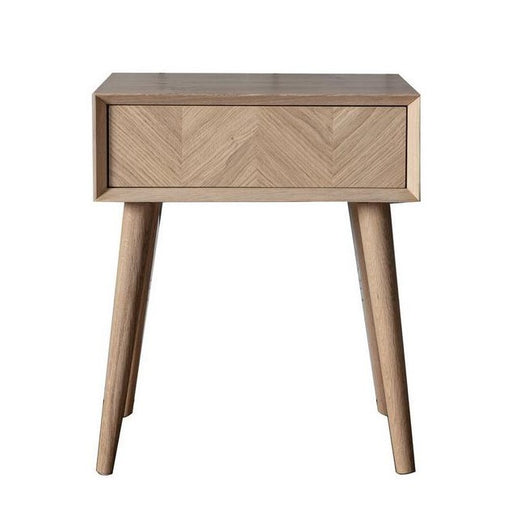 Milano Oak 1 Drawer Side Table