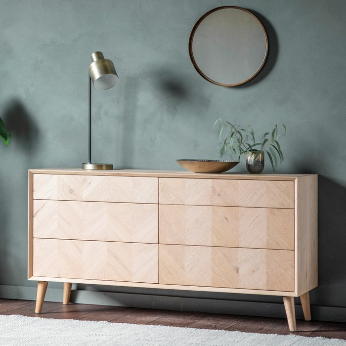 Milano Oak 6 Drawer Chest