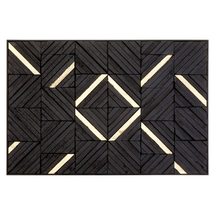 Modello Gold & Black Wood Panel Wall Art 120cm x 80cm