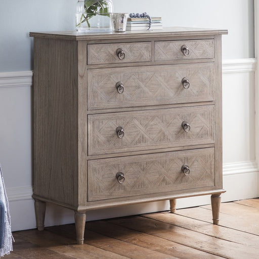 Mustique 5 Drawer Chest - The Furniture Mega Store