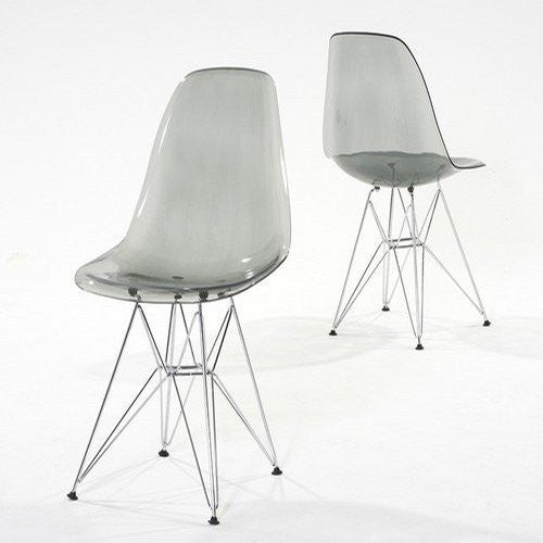 Pair of Chablis 'Eiffel' Style Leg Transparent Chair