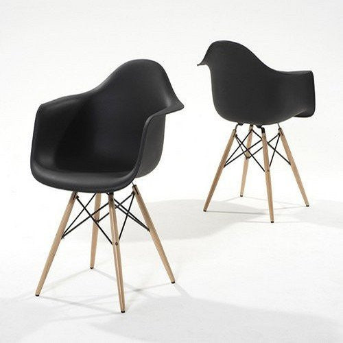 Pair of Chablis 'Eiffel' Style Leg Tub Chair in Black