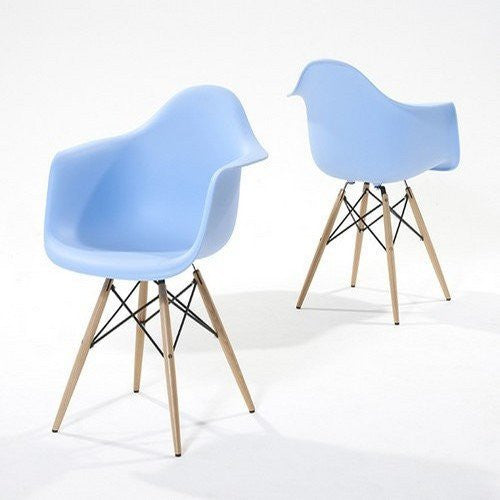 Pair of Chablis 'Eiffel' Style Leg Tub Chair in Blue