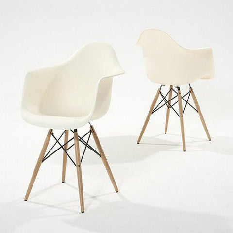 Pair of Chablis 'Eiffel' Style Leg Tub Chair in Cream
