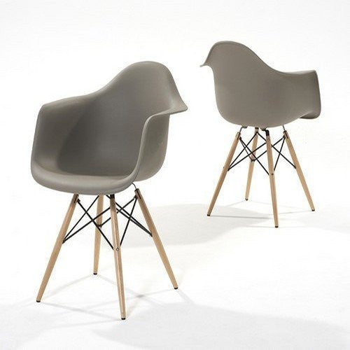 Pair of Chablis 'Eiffel' Style Leg Tub Chair in Grey - The Furniture Mega Store
