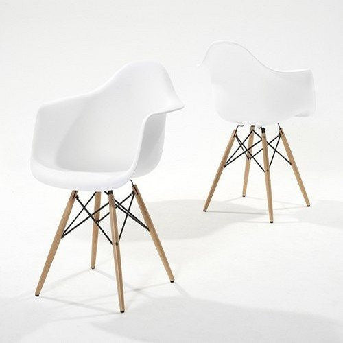 Pair of Chablis 'Eiffel' Style Leg Tub Chair in White