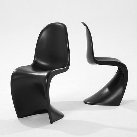 Pair of Vincenza S Shape Chair in Black