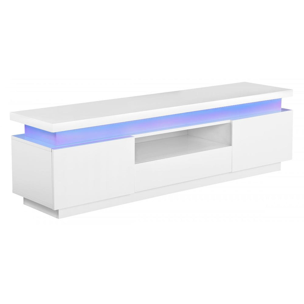 LED Plasma TV Unit - High Gloss - White