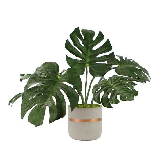 Artificial Monstera Plant In Decorative Pot