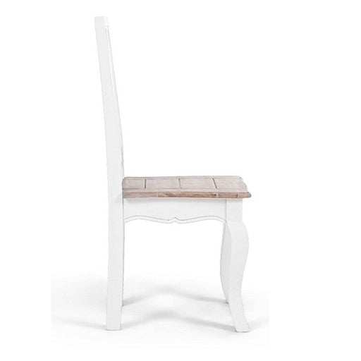 Sienna Oak & White Wooden Dining Chairs - Set Of 2