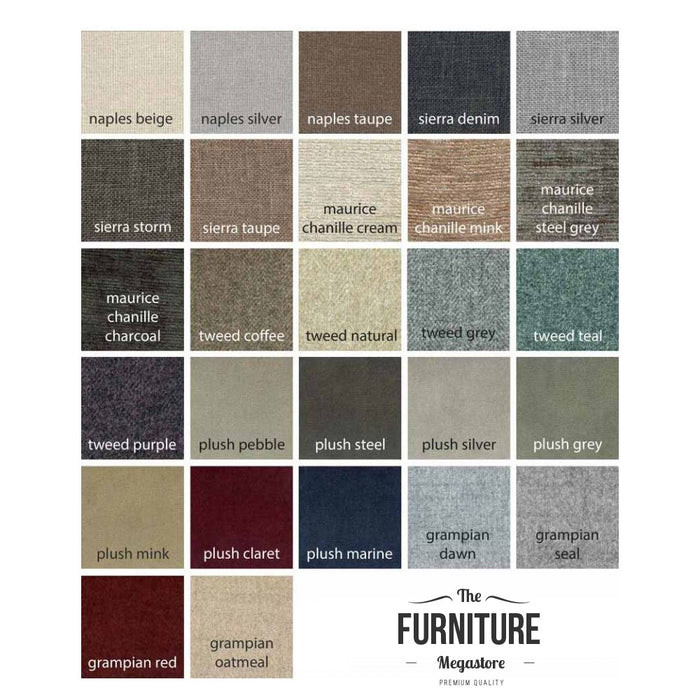 Majestic Floor Standing Full Headboard - Choice Of Fabrics & Sizes - The Furniture Mega Store