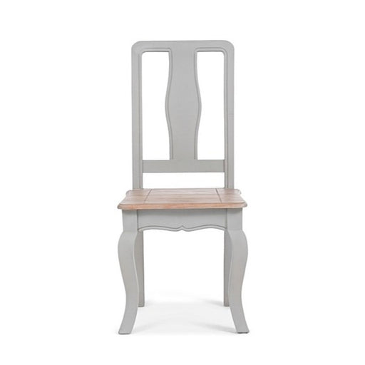 Sienna Oak & Grey Wooden Dining Chairs - Set Of 2