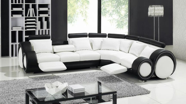 Stylo Corner Manual Reclining Leather Sofa