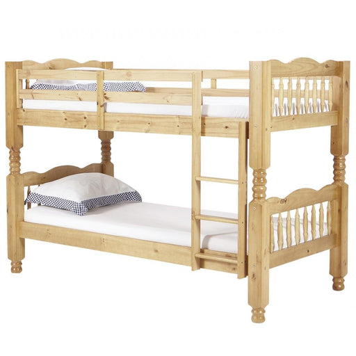 Trieste Chunky Pine 3FT Bunk Bed - The Furniture Mega Store