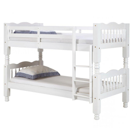Trieste Chunky Pine Bunk Bed White Wash - The Furniture Mega Store