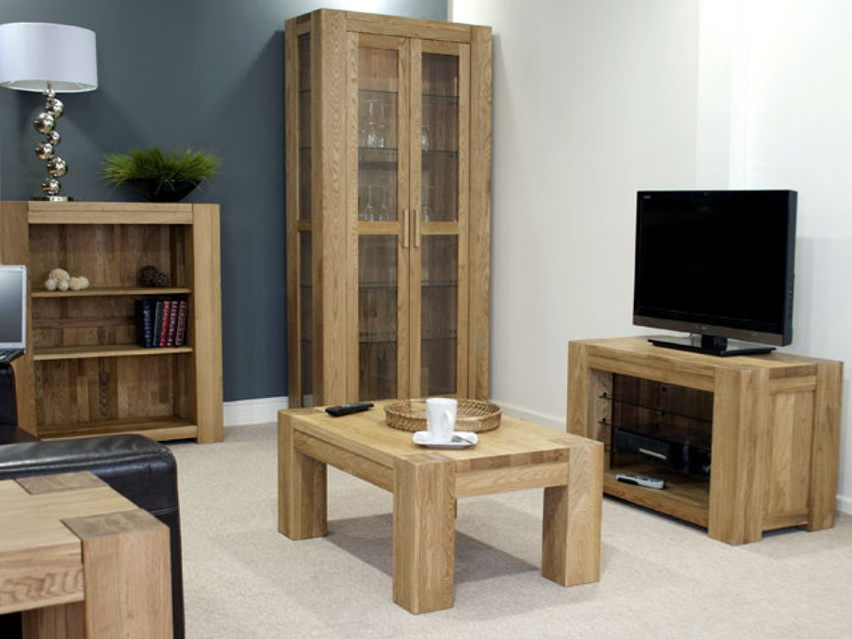 Trend Solid Chunky Oak Medium TV, DVD Video Stand