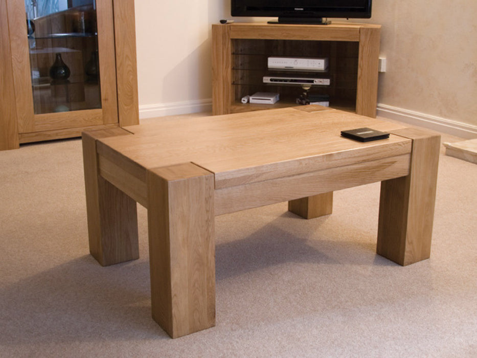 Trend Solid Chunky Oak Small Coffee Table