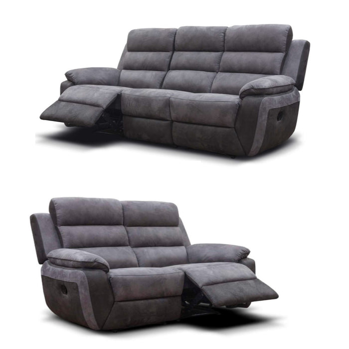 ELLIS 2 & 3 SEATER FABRIC RECLINER SOFA SET - Manual Reclining or Electrical Reclining.