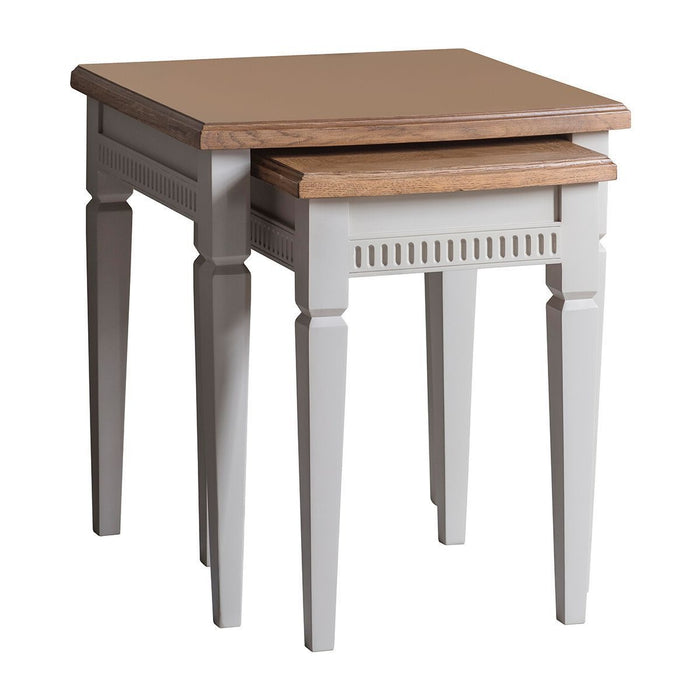 Bronte Taupe Nest Of 2 Tables - The Furniture Mega Store