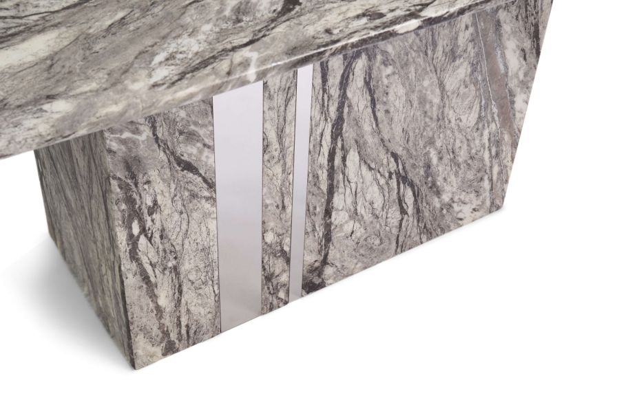 Alice 180cm Grey Marble Dining Table