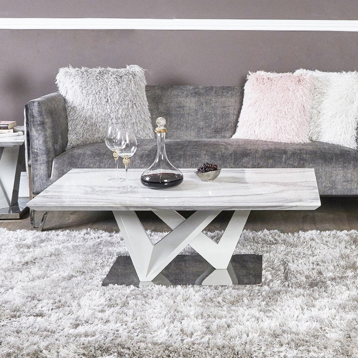 Esther Marble Effect Coffee Table